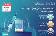 تقديم 84919 جرعة من لقاح كورونا في الإمارات خلال الـ 24 ساعة الماضية