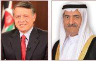 حاكم الفجيرة يهنئ عبد الله الثاني بالذكرى المئوية لتأسيس الأردن