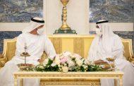 محمد بن زايد يزور حاكم الفجيرة ويتبادلان التهاني بعيد الفطر
