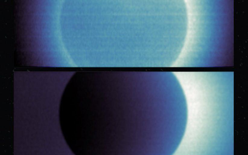 مسبار الأمل يلتقط صورتين من مداره العلمي للهيدروجين المحيط بالمريخ
