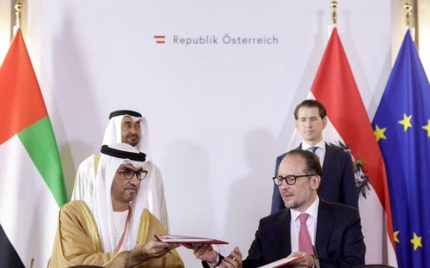 محمد بن زايد وسيباستيان كورتس يشهدان توقيع اتفاقية الشراكة الإستراتيجية الشاملة بين الإمارات والنمسا