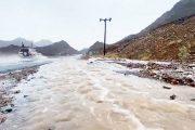 تواصل هطول أمطار الخير وجريان الأودية في مناطق متفرقة من الدولة
