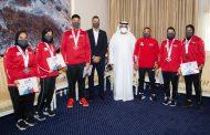 ولي عهد الفجيرة يستقبل الفائزين في بطولة آسيا للشباب والناشئين للملاكمة