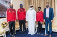 ولي عهد الفجيرة يستقبل الفائز في بطولة الألعاب المائية لمجلس التعاون الخليجي