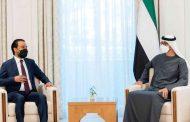 محمد بن زايد يبحث مع رئيس النواب العراقي تعزيز التعاون