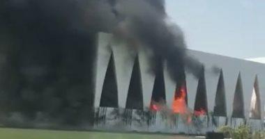 حريق هائل في قاعة افتتاح مهرجان الجونة السينمائي
